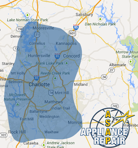 ASAPpliance Repair Charlotte Service Area